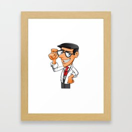 Young Doctor with glasses  Framed Art Print