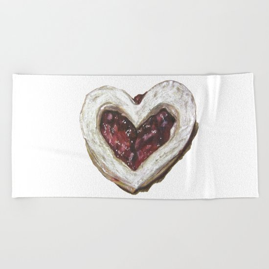 Holiday Love Cookie Beach Towel
