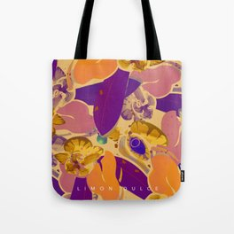Iguanas and orchids Tote Bag