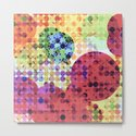 geometric circle pattern abstract background in red pink yellow orange green by timla