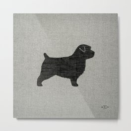 Norfolk Terrier Silhouette(s) Metal Print