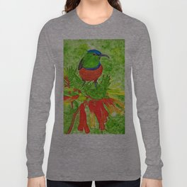 Double Collared Sunbird Long Sleeve T-shirt