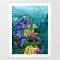 Siren of the deep Art Print