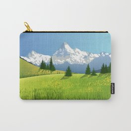 Countryside Landscape With Mountains Carry-All Pouch