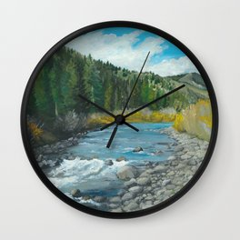 Mountain Stream Art Wall Clock