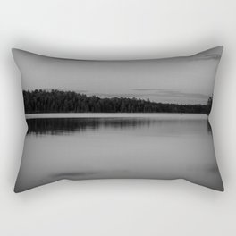 Black and White Sunset on Little Loon Rectangular Pillow