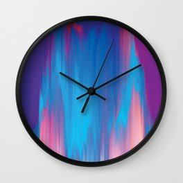 Pastel Glitch - Abstract Art Wall Clock