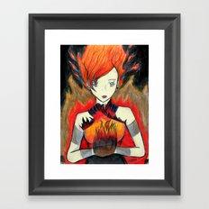 Girl on Fire Framed Art Print