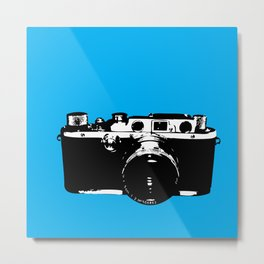 Leica in Blue Metal Print