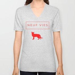 Le chat rouge Unisex V-Neck