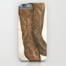 Watercolor Cowboy Boots Slim Case iPhone 6s