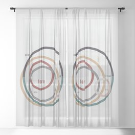 for Love || words & circles Sheer Curtain