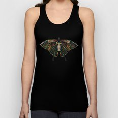 swallowtail butterfly teal Unisex Tank Top