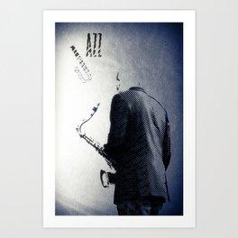 Saxophonist, Jazz Poster Art Print