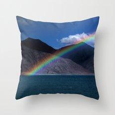 The Rainbow at Pangong! Throw Pillow