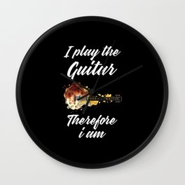 i play guitar therefore i am Wall Clock