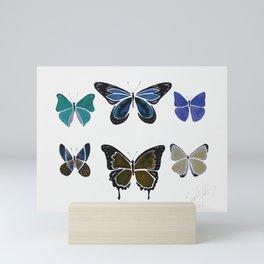 The Blue Butterfies Mini Art Print