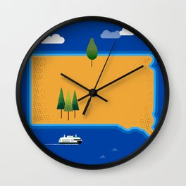 South Dakota Island Wall Clock