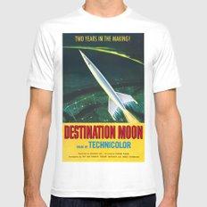 Destination Moon MEDIUM Mens Fitted Tee White