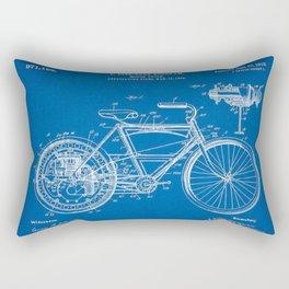 1910 F. Fitz-Tarr Bingham Motorcycle Patent Blueprint Rectangular Pillow