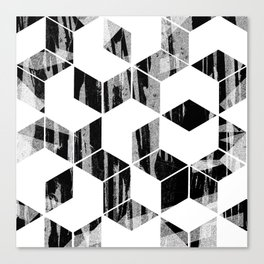 Elegant Black and White Geometric Design Canvas Print