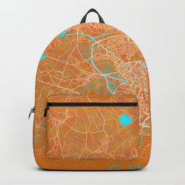 Ghent, Belgium, Gold, Blue, City, Map Backpack