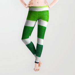 Colorful Green Stripes Leggings