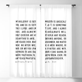 My Philosophy is Basically This - TV show quote Blackout Curtain