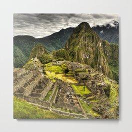 Machu Picchu in Hi-Res HDR landscape photo Metal Print