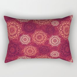 Mystic Mandala - Hot Safran Rectangular Pillow