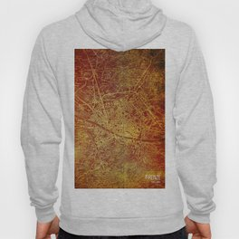 Firenze old map, Florence antique Hoody