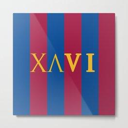 XAVI Blaugrana Type Logo Metal Print