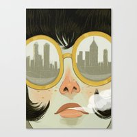 glasses Canvas Prints featuring Glasses by Ericka Lugo