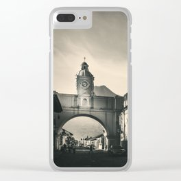 Antique buildings in Antigua, Guatemala Clear iPhone Case