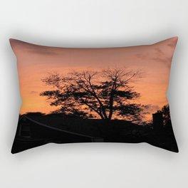 Tree on Fire Rectangular Pillow