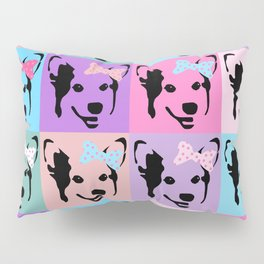 Corgi Pop - cute corgi with bow, dog, dogs, corgis, pop art, pink and purple, girls pop art Pillow Sham