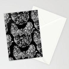 Botanical frenchie Stationery Cards