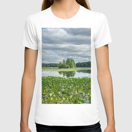 reflections in the lake in Kensington park T-shirt