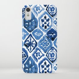 Arabesque tile art iPhone Case