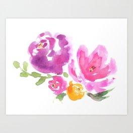 Violet Blooms Art Print