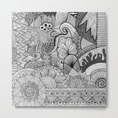 Doodle 3 Metal Print