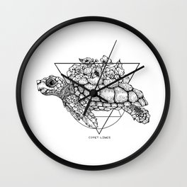 Turtle Paradise Wall Clock
