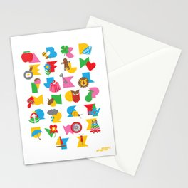 ABCs Gumball Stationery Cards