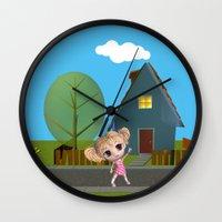 chibi Wall Clocks featuring Chibi Girl by ChibiGirl