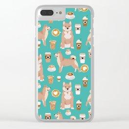 Shiba Inu dog breed coffee pupuccino pure breed doggo gifts Clear iPhone Case