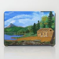 cabin iPad Cases featuring Old cabin by maggs326