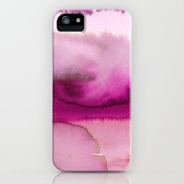 Blush pink lavender abstract watercolor paint iPhone Case
