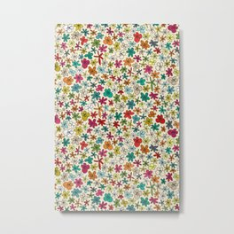 garland flowers multi Metal Print