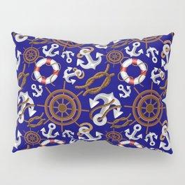 Nautical Marine and Navigation Seamless Pattern Pillow Sham