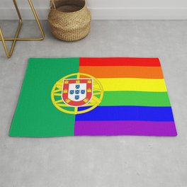 portugal country gay flag homosexual Rug
